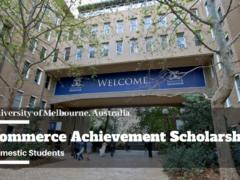 Commerce Achievement Scholarship 2021 at University of Melbourne