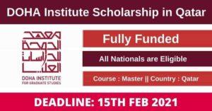 Doha Institute for Graduate Studies Scholarship 2021