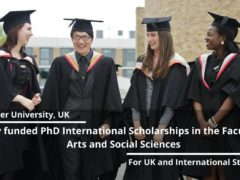 Lancaster PhD Studentships 2021 for Students from Developing Countries to study in UK