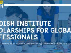 Stipendioj de Sveda Instituto por Tutmondaj Profesiuloj 2022