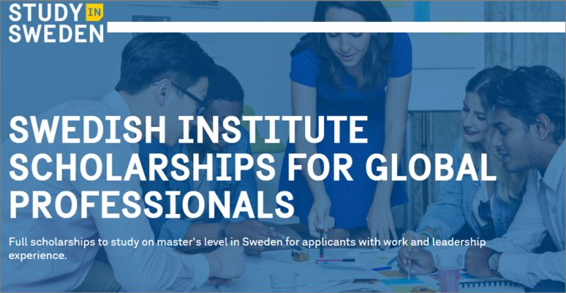 Swedish Institute Scholarships for Global Professionals 2022