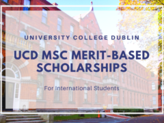 MSc Merit-Based International Scholarships in Ireland, 2021