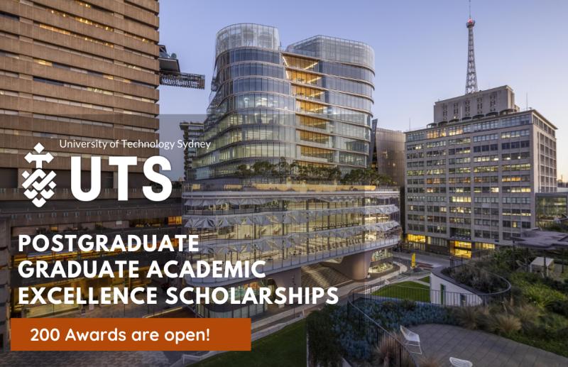 UTS Postgraduate Academic Excellence Scholarships 2021