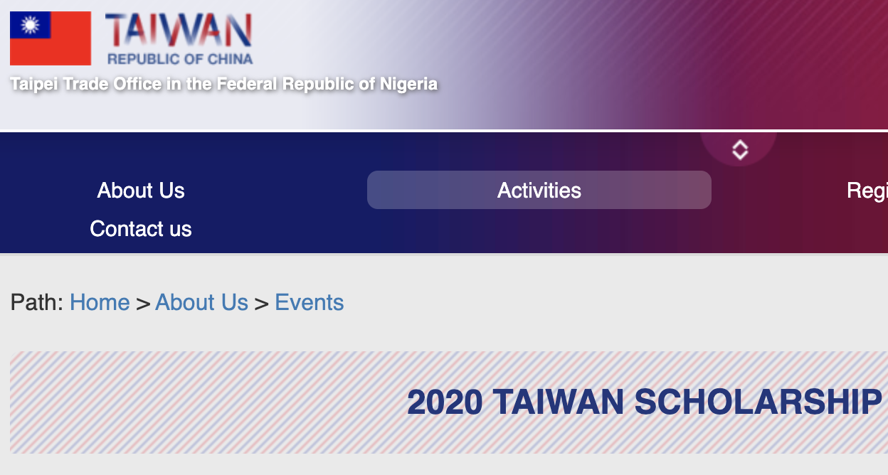 Taiwan Government International Scholarship Program 2021
