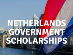 नेदरलँड्स सरकारी शिष्यवृत्ती 2021 (पूर्णपणे निधी)