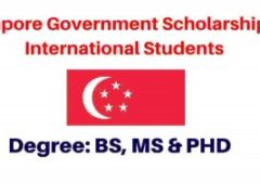 Singapore Government Scholarships 2022 | Fully Funded