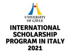 International Scholarship Program at University of Gävle in Italy 2021
